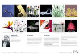 Übersicht der Monatsmotive gmd gruppe Kunstkalender 2020