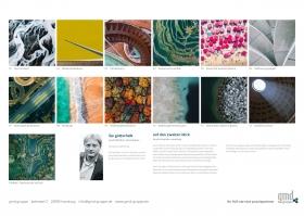 Bild der Rückseite des gmd gruppe Kunstkalenders 2019